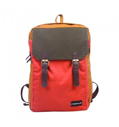 MOCK UP BBP.49 THREE COLOR BACKPACK – CAMEL ORANGE ARMY