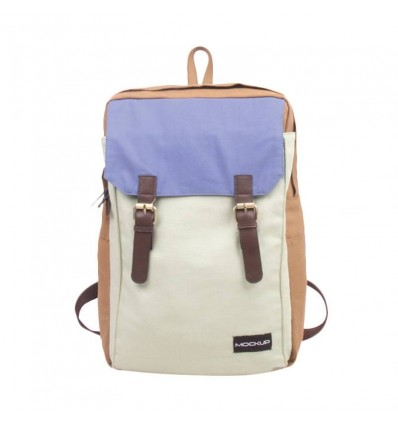 Mock Up BBP.49 Three Color Backpack – Khaki Mint Light Blue